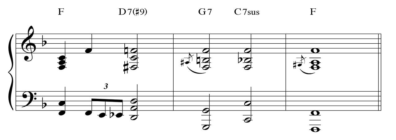 passing chords from 1 to 5